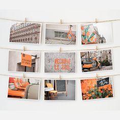 Paris Postcard Collection Orange