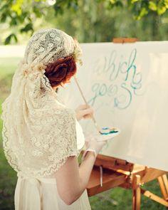 ivory lace bridal cap, handmade veil, wedding head piece