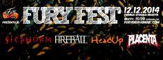 12.12.2014 Fury Fest 2014: PLACENTA, HEADUP, FIREBALL, SICPHORM w Ciemna Strona Miasta Klub Muzyczny we Wrocławiu.