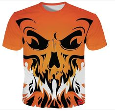 d843d6693be7d Cloudstyle Tshirt Men 2018 Skull Print Fashion Brand Hipster Harajuku Tees  Shirt Top Summer Cool Streetwear Plus Size 1
