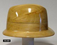 WK 0109 Wooden hat block millinery hut form form a' от borsolino