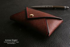 mini wallet hand made leather