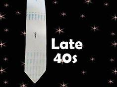 Men's Vintage Silver Satin Necktie - Late 1940s Early 1950s Beau Brummel by…