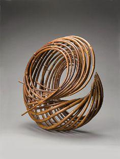Streaming Light (Ryuki), 1974. By Honma Kazuaki (Japanese, born 1930). Bamboo and rattan