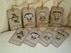 Halloween Tags, seriously cute and I have all of these stamps!