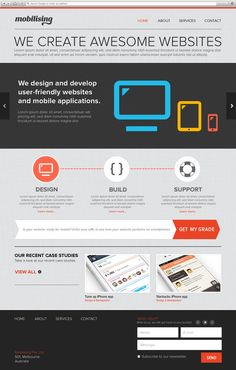 Mobilising Website by Sai Nihas, via Behance