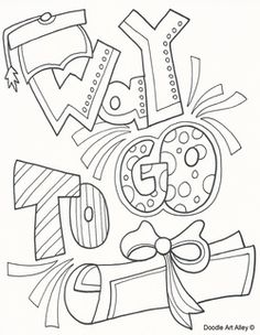 Graduation Coloring Page