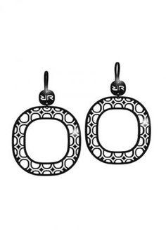 Rebecca Seventies Blackened Earrings with Glam Film