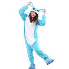 Blue Rabbit Kigurumi Oneises Costumes Pajamas