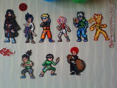 Naruto characters hama perler beads by mikalix