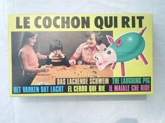 Vintage Board Game Le Cochon Qui Rit by jclairep on Etsy, $16.00