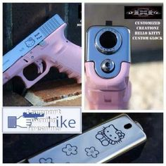 Hello Kitty Glock???????  How cute is that?!   It will still get the job done.  Perfect for my daughter, Rebekah!