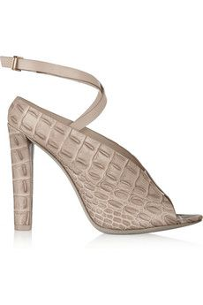 Alexander Wang Clara embossed-leather sandals | THE OUTNET