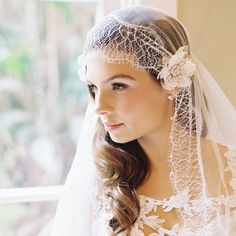 Gorgeous Wedding Hairstyles with Most Romantic Hair Accessories. To see more: http://www.modwedding.com/2014/01/23/33-wedding-hairstyles-with-most-romantic-hair-accessories/ #wedding #weddings #hair #hairstyle