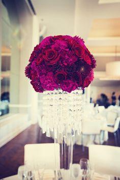 Purple hydrangea for wedding table centerpieces