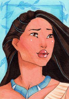 Pocahontas ACEO Art Card