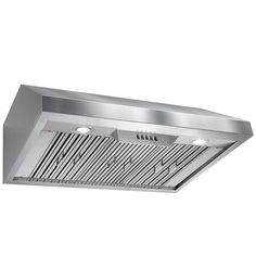 Perfetto Kitchen And Bath Under Cabinet Stainless Steel Push Button Control  Kitchen Cooking Fan Range Hood