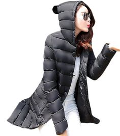 Woo2u Women Hooded Thicken Down Cotton Padded Coat ** Special  product just for you. See it now! : Plus size coats