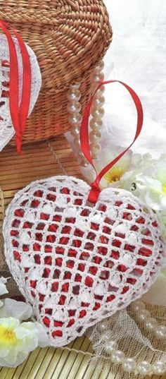 Coração crochet