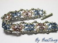Reyna Bracelet Tutorial (Reyna is a the Praetor of the Twelfth Legion at Camp Jupiter from Percy Jackson and The Heroes of Olympus series by Rick Riordan.) Ok.  At any rate, this is a lovely cross-weave tutorial with detail and good pictures.  #Seed #Bead #Tutorial