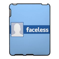 Not everyone is a fan ofthe world's biggest social network. Join the faceless masses with this cool parody iPad cover - The Faceless Anonymous Profile Pic.