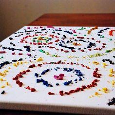 Crayon art tutorial arts-crafts