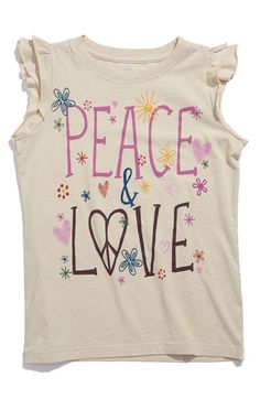 Sierra is my true little hippie kiddo.  Just love to see her in sweet clothes that have butterflies, hearts and of course peace symbols.