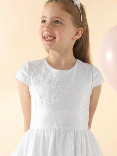 LWCD37 Communion Dress Holy Communion Dresses, First Holy Communion, Little White, Baby Dress, Cap Sleeves, Bodice, Tulle, Flower Girl Dresses, Sequins