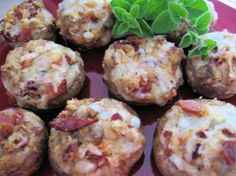 "Stuffed Mushrooms: ""Wonderful recipe! This recipe always impresses my friends. Very easy to make and great to use up stale bread."" -College Chef IN"