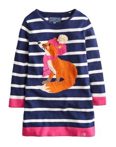 ZINACTIVE - Joules ~ Knitted Fox Sweater Dress | | Ribbon Chix