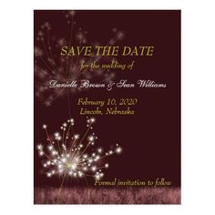 Twilight Dandelions Wedding Save the Date Postcard