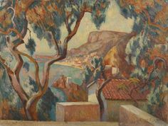 "Roger Eliot Fry ~ ""View on the Côte d'Azur, Menton"", 1916"