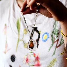 Butterfly wing necklace | http://www.macted.ro/butterfly-wing-necklace/