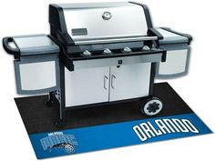 The Orlando Magic Grill Mat protects your deck or patio while grilling
