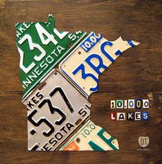 License Plate Map Of Minnesota By Design Turnpike by Design Turnpike