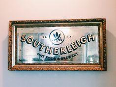 Vintage Mirror Sign / Southerleigh by Luigi Maldonado for Guerilla Suit