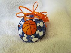 Basketball quilted ornament. by KountryOrnaments on Etsy, $14.00