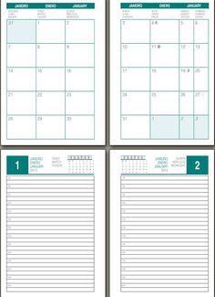 imprimible hojas de agenda