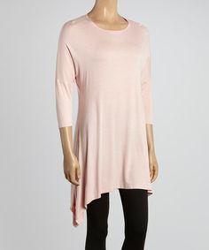 This Peach Sidetail Tunic by MOA Collection is perfect! #zulilyfinds
