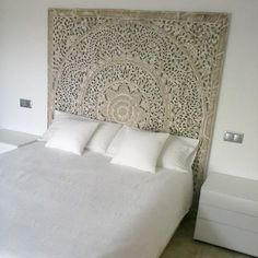 Rare Natural Bed Headboard 60 5ft Sculpture by thaiworldtrade