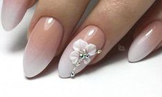 Wedding nails - TOP 28 cute inspirations on nails for . Informations About Hochzeitsnägel - TOP 28 Oval Nails, 3d Nails, Pink Nails, Nagel Stamping, Bridal Nail Art, Bride Nails, Wedding Nails Design, Luxury Nails, Stylish Nails