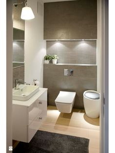 homes interior ideas Wc Bathroom, Bathroom Toilets, Bathroom Layout, Bathroom Interior Design, Bathroom Furniture, Modern Bathroom, Small Bathroom, Design Bedroom, Bathrooms