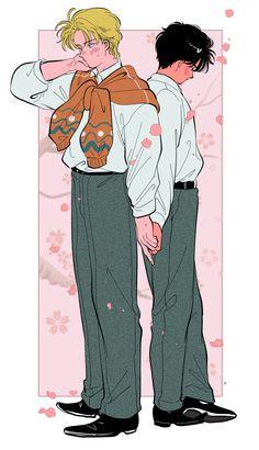 "Yasuko觉得画画好难 on Twitter: ""A和英的春夏秋冬~… "" Manga Anime, Anime Art, Banana Art, Japon Illustration, Another Anime, Fish Art, Animes Wallpapers, Anime Couples, Aesthetic Anime"