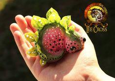 Baby Watermelon Stegosaurus Sold by Wood-Splitter-Lee.deviantart.com on @DeviantArt