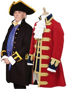See related links to what you are looking for. Disfraz Peter Pan, Pirate Garb, Military Fashion, Military Clothing, Frill Shirt, Military Costumes, 18th Century Costume, 18th Century Clothing, Frock Coat