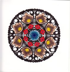 Polish traditional paper cut-out made by hands in Łowicz