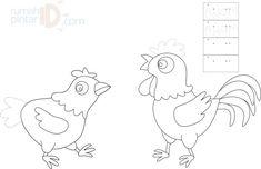 Mewarnai Dan Menulis Binatang Ternak Ayam Binatang Ternak