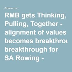 Rand Merchant Bank CEO James Formby explains to Alec Hogg why his company has become Rowing South Africa's headline sponsor. Rowing, Olympic Games, Competition, Sport, Deporte, Excercise, Sports, Exercise