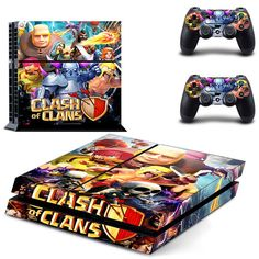 Clash of clans decal for ps4 console skin sticker