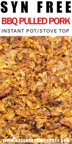 This SYN FREE BBQ PULLED PORK is a tender, juicy and delicious Slimming World recipe,made in the slow cooker, Instant Pot or on the stove. pot recipes slimming world Syn Free BBQ Pulled Pork (Instant Pot/Stove Top) - Basement Bakehouse Slow Cooker Slimming World, Slimming World Dinners, Slimming World Recipes Syn Free, Slimming Eats, Pulled Pork Slimming World, Slow Cooked Meals, Slow Cooker Pork, Slow Cooker Recipes, Cooking Recipes